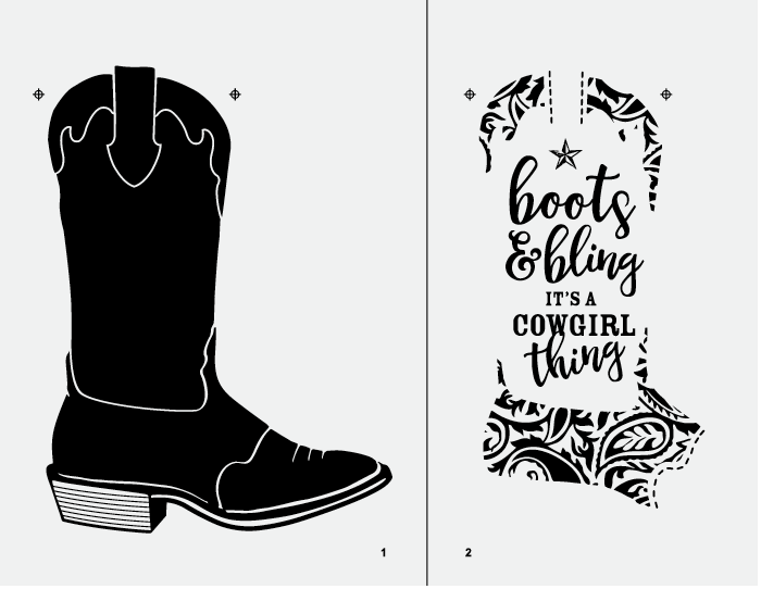 Boots \u0026 Bling Chalk Transfer