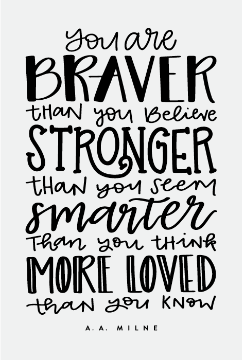 Braver Stronger Smarter Chalk Transfer | Chalking With Jessica