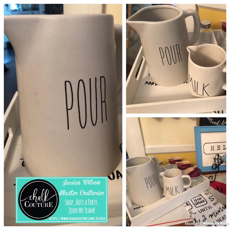 Chalk Couture Haul and Handwritten Font on Pitcher