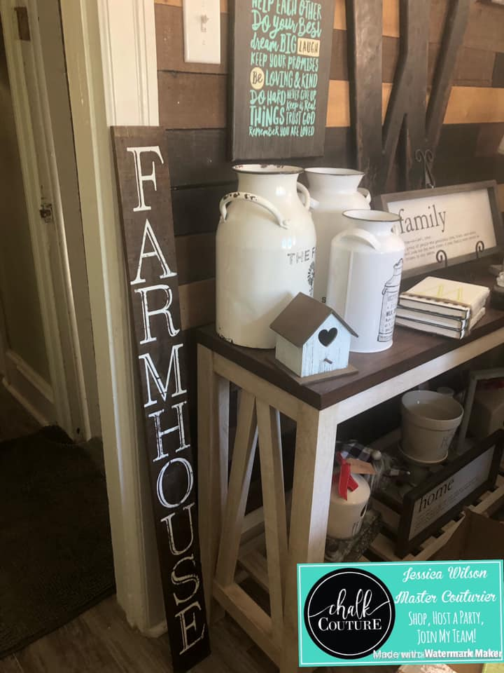 Farmhouse Sign with Chalk Couture Monogram Letters