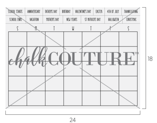 Calendar Template transfer