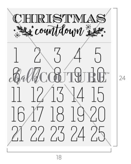 Christmas Countdown Transfer