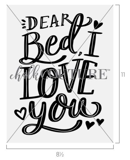 Dear Bed I Love You transfer