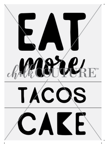 Eat More Tacos transfer