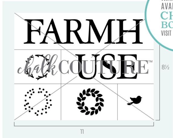 Farmhouse Wreath Transfer