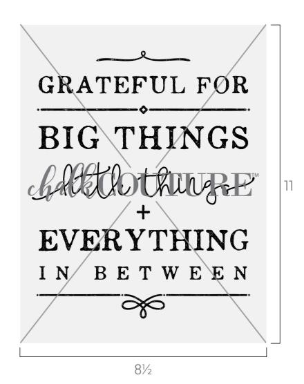Grateful For Little Things Transfer