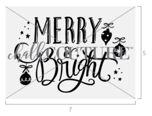 Merry & Bright Ornaments Transfer