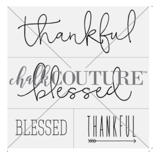 Thankful Blessed Chalk Transfer