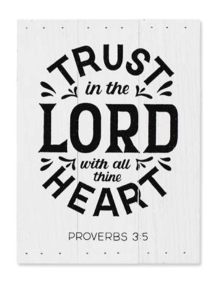 Trust In The Lord Sample Product