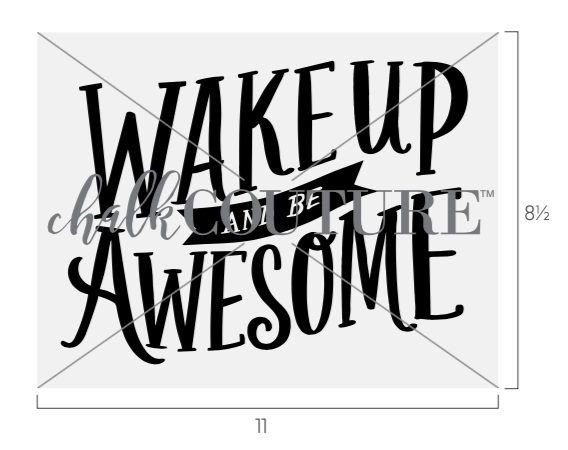 wake up and be awesome transfer