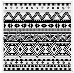 Southwest Motif Pattern Chalk Transfer