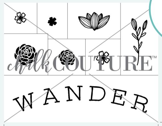 Wander Floral Transfer