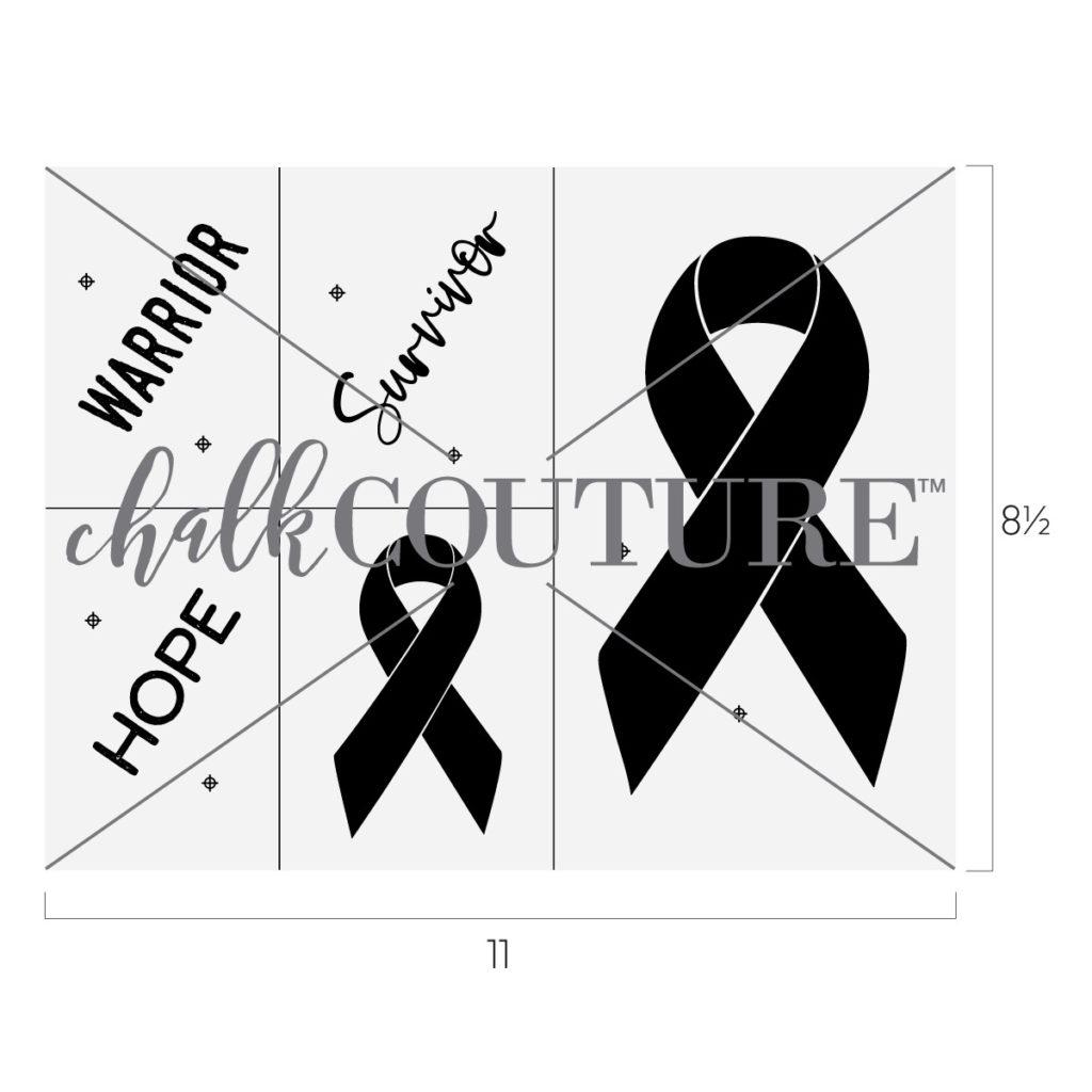 awareness ribbon chalk transfer