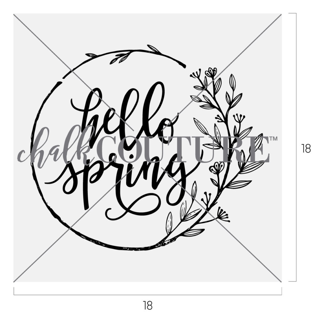 Hello Spring Chalk Couture Chalk Transfer