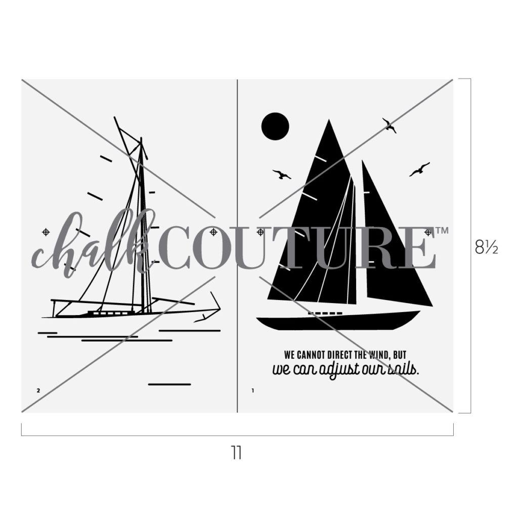 Sailboat Chalk Transfer