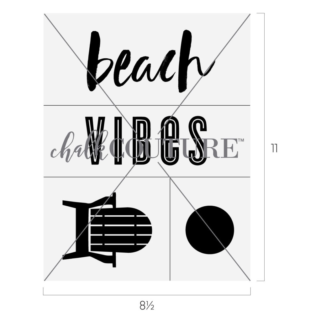 Beach Vibes Chalk Transfer | Chalking With Jessica