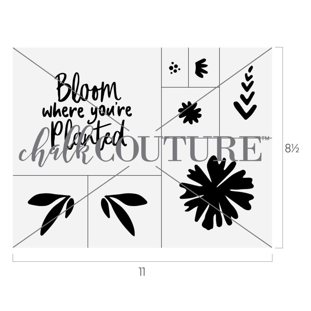 Bloom Chalk Transfer