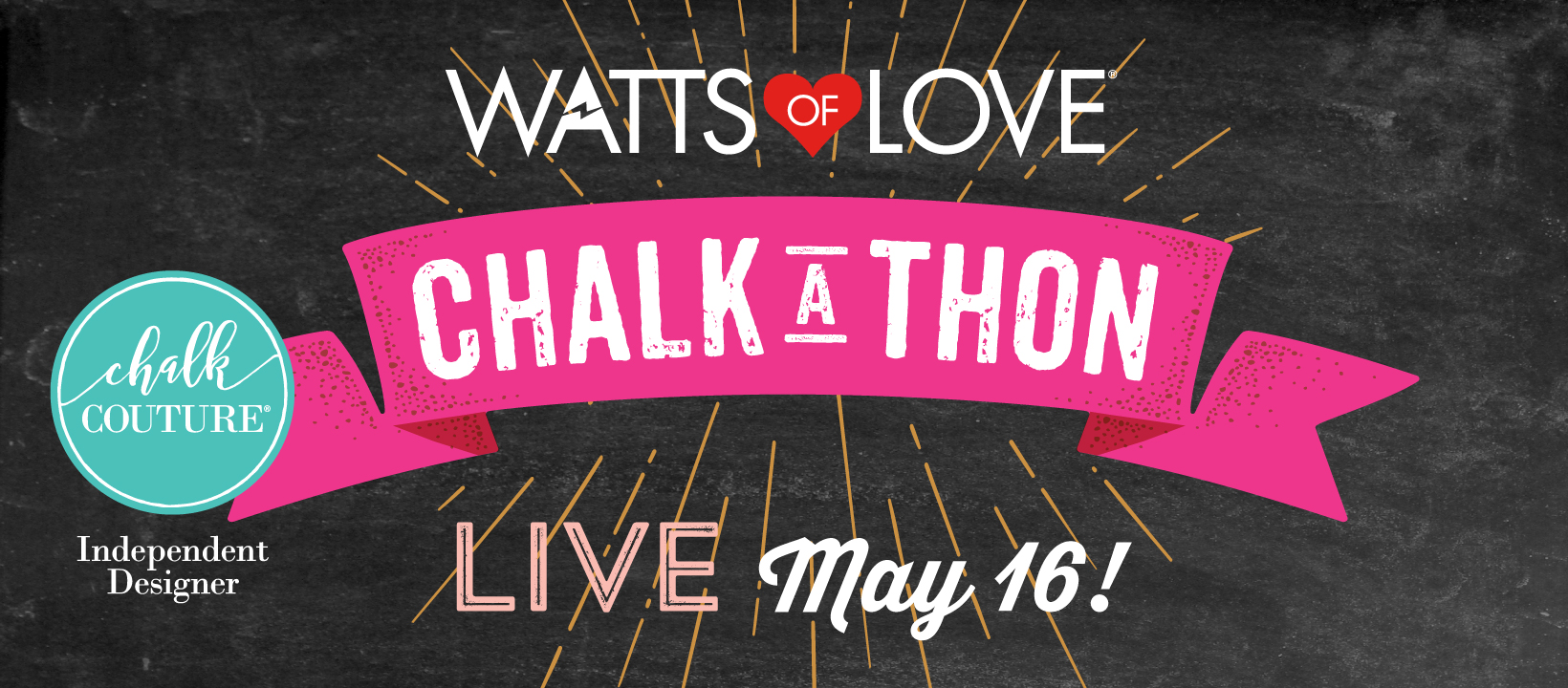 Watts of Love Chalk-A-Thon!