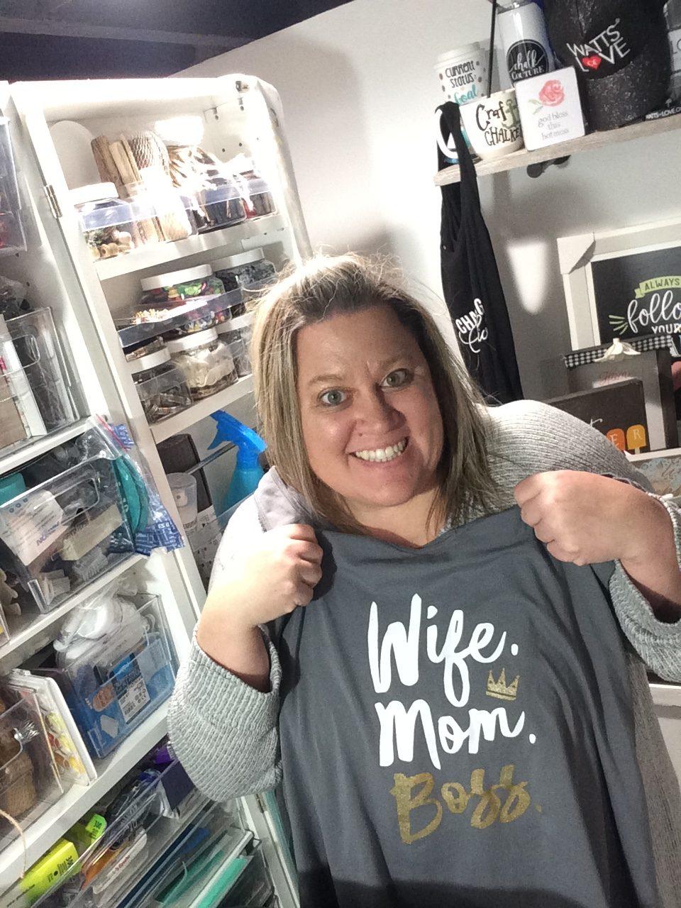 Wife. Mom. Boss. Transfer on Tank Top