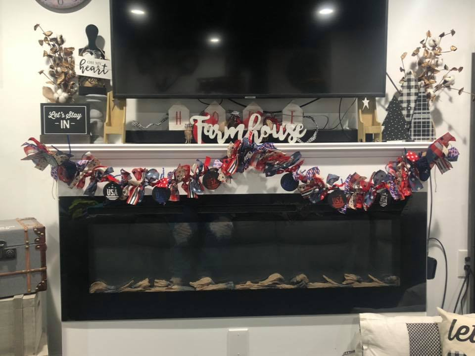 Patriotic Swag Garland for the Porch