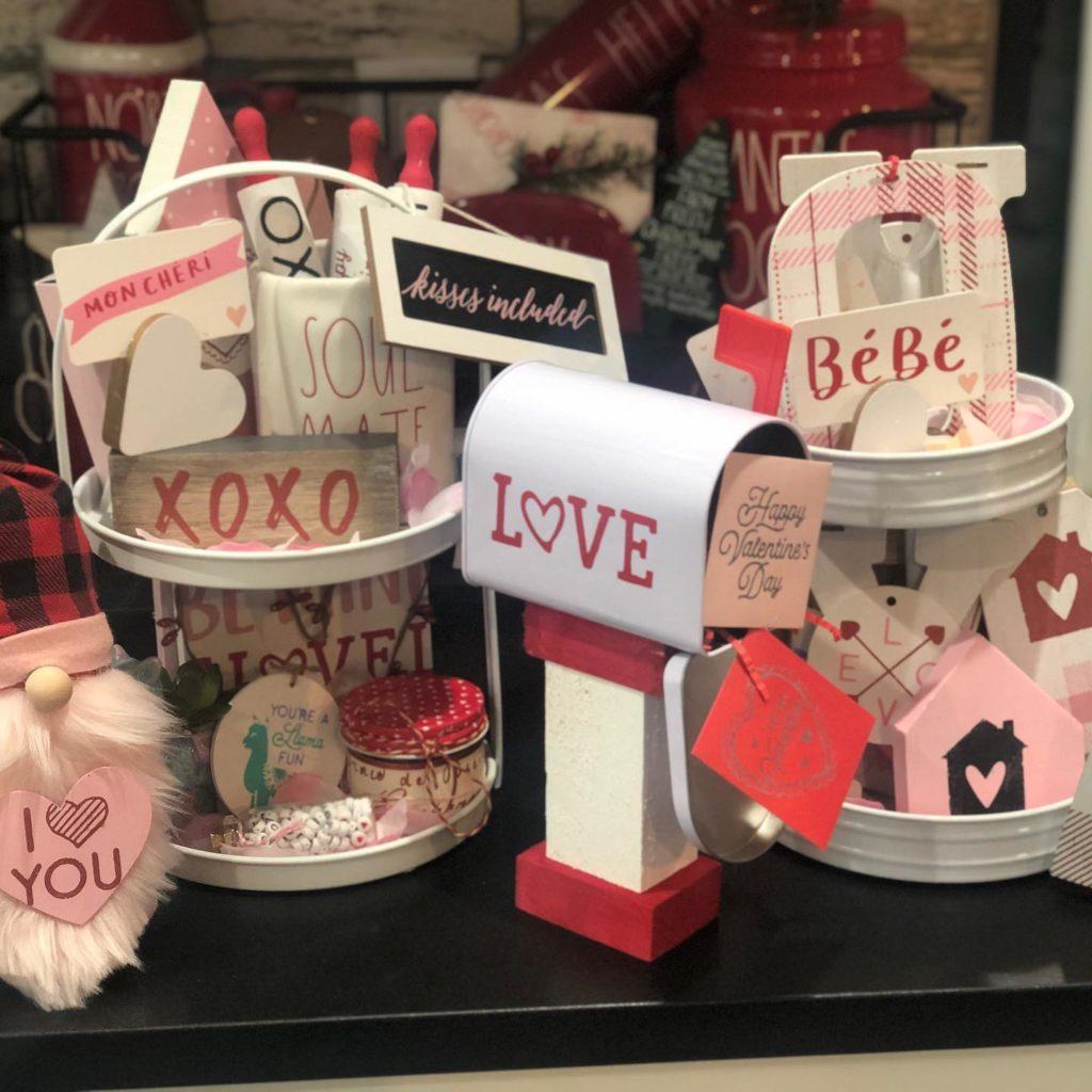 Valentine's Day Tiered Tray Decor