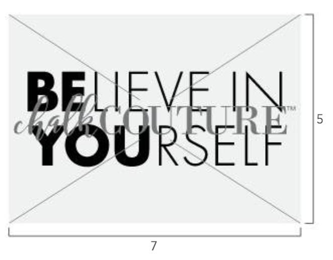 Believe In Yourself Chalk Transfer