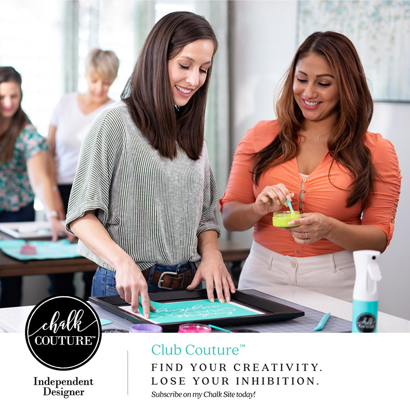 Chalk Couture: New Hobby, New Business, New Career.