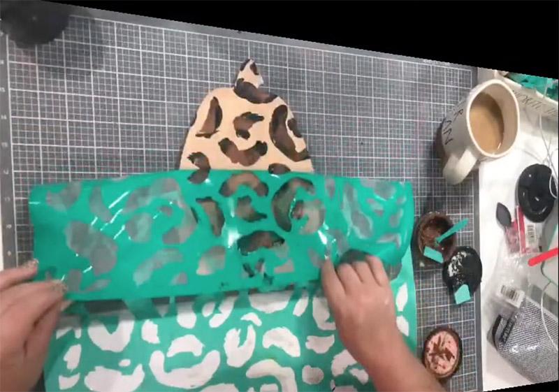 Leopard Pumpkin or the Leopard Print Pattern transfer on Pumpkin Cut Out