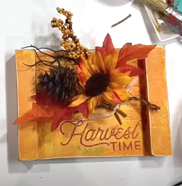 Fall Wishes Trio Transfer on Door Tags