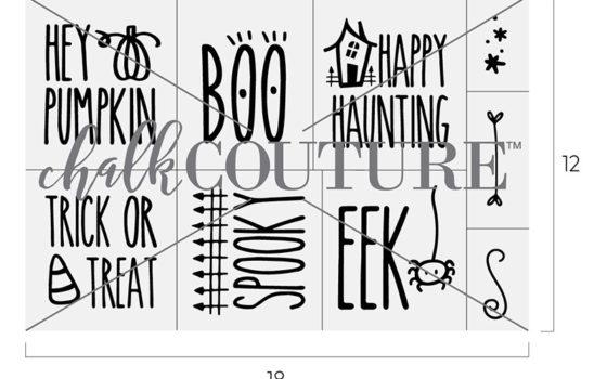 Halloween Phrases chalk transfer