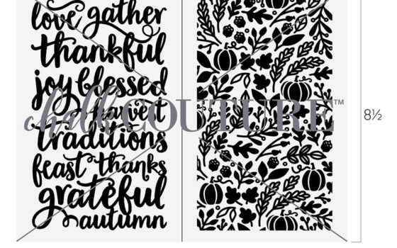 Thankful Blessed Pattern Chalk transfer