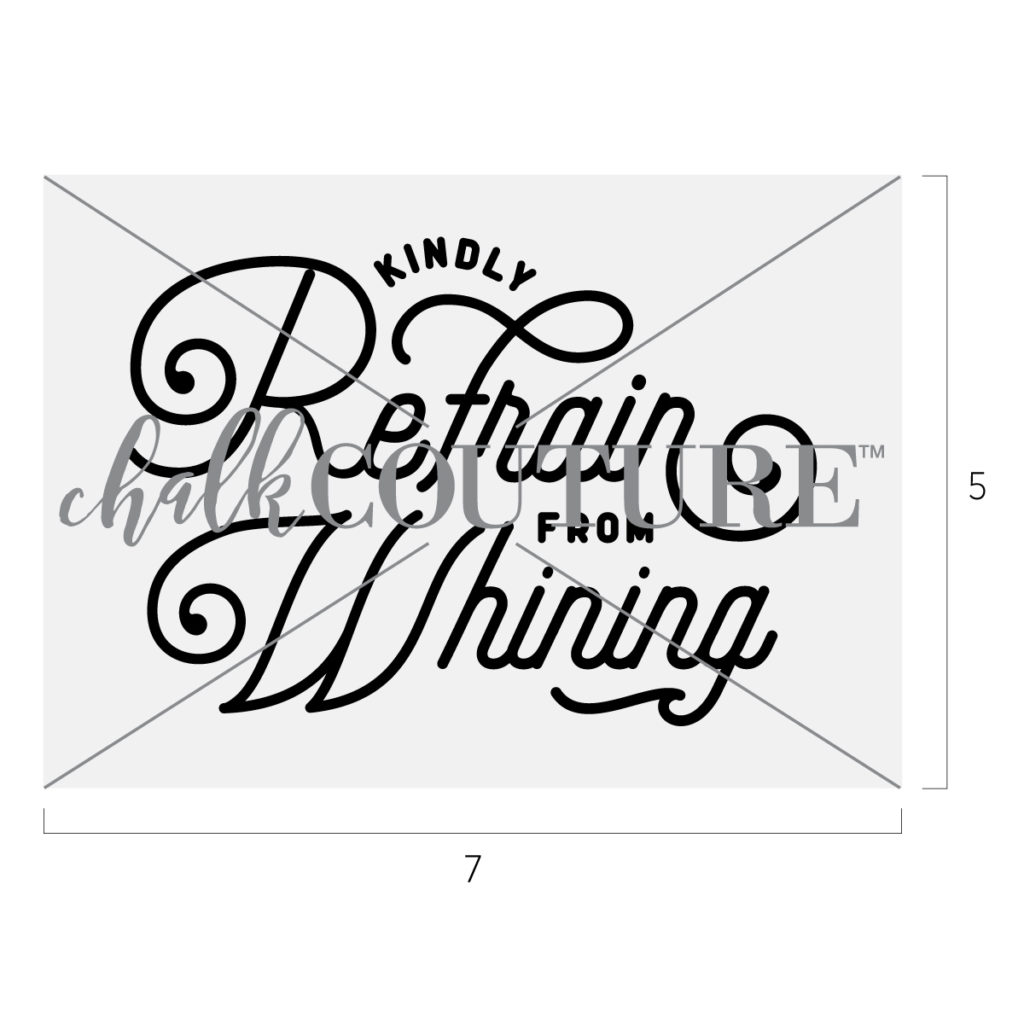 Refrain From Whining