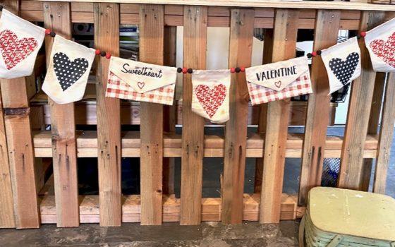 Valentine's Cloth Pennant Banner