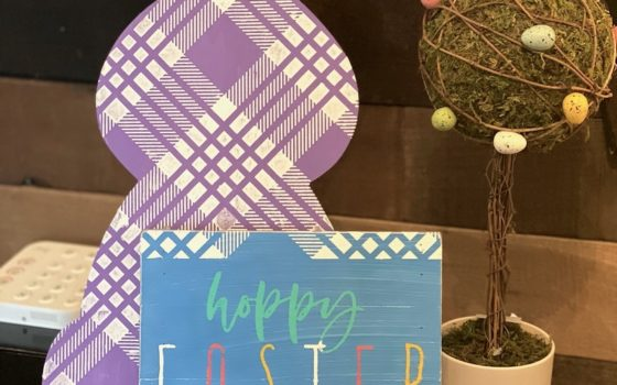 Country Plaid Easter Bunny