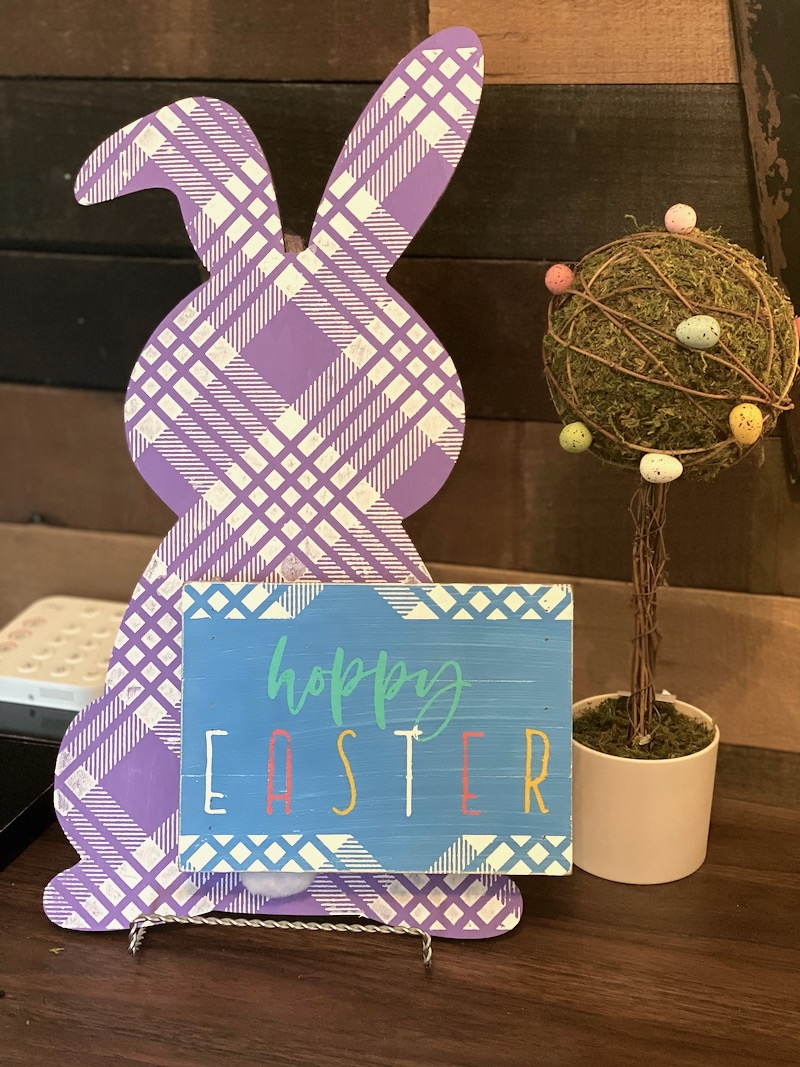 UPDATE: Country Plaid Easter Bunny is Super Cute