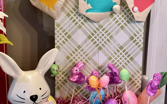 Bunny Duo and Country Plaid Easter Decor