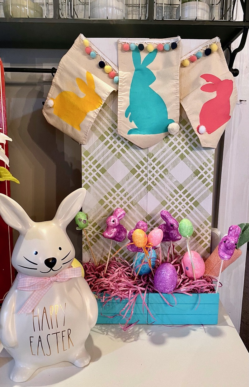 Hippity Hop into Easter with Bunny Duo and Country Plaid Transfers Project!