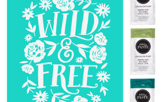 Wild and Free chalk transfer
