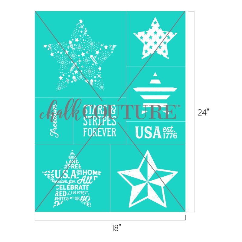 Star Cutout Patterns transfer