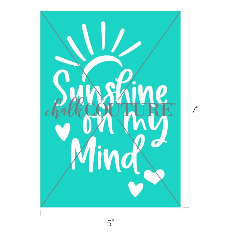 Sunshine on my Mind transfer
