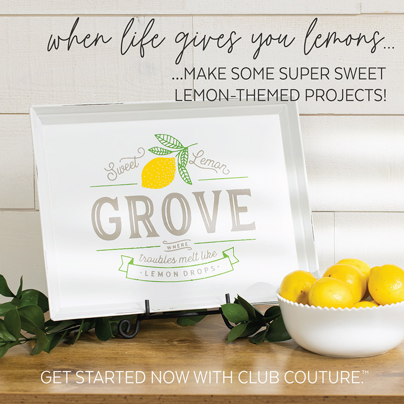 May Club Couture is Lemony Fresh and Fun!