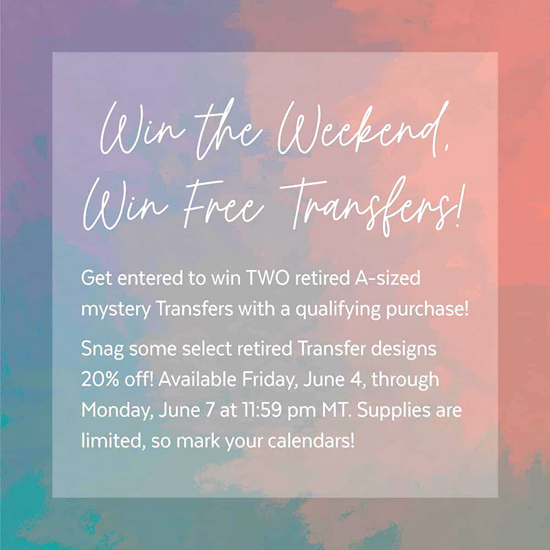 One hour until Chalk Couture Win the Weekend Sale!