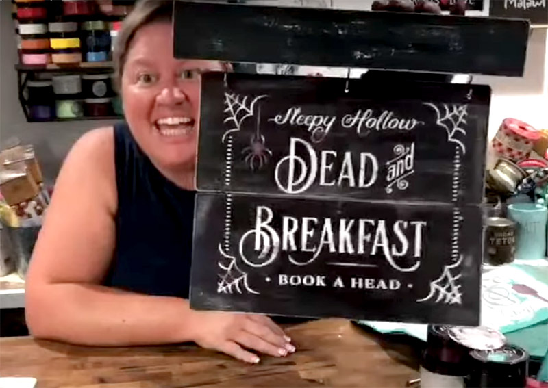Halloween Fun with a DIY Dead and Breakfast Sign