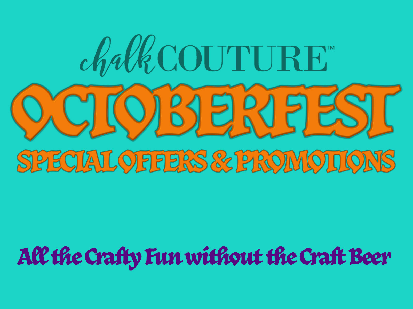 It's Octoberfest at Chalk Couture
