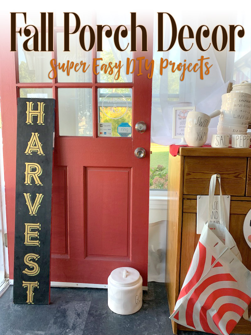 Porch Decor is an Easy Attractive DIY item for your Home Decor