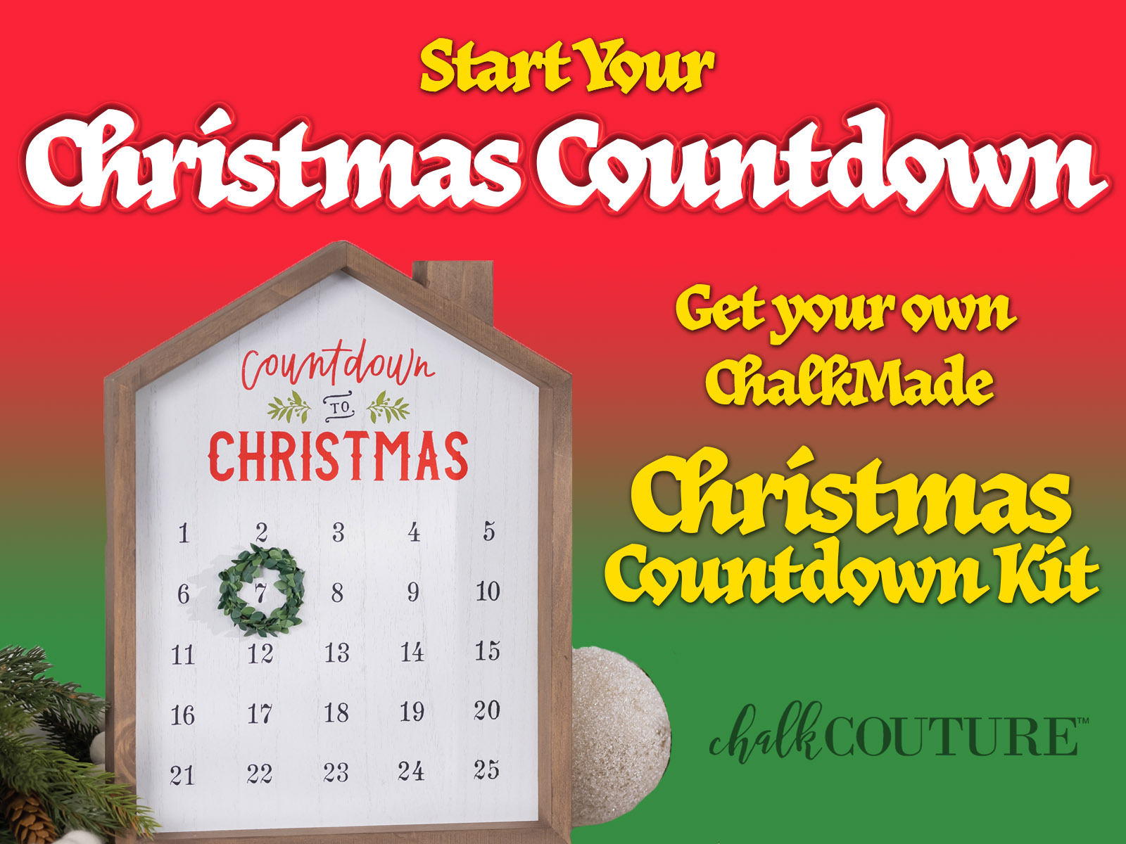 Get Ready for Christmas with the ChalkMade Christmas Countdown Kit!