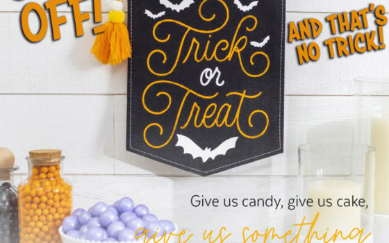 30% Off Trick or Treat Banner